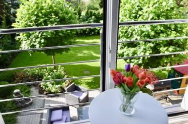 2 rooms with sauna, fitness and beautiful garden